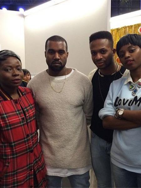 Left: Arieta Mujay, Kanye West, Adebayo Oke-Lawal