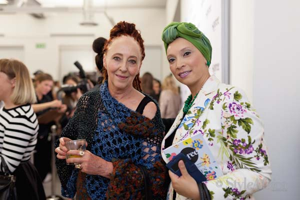 Style Africa Editor, Roshan Isaacs with designer Marianne Fassler